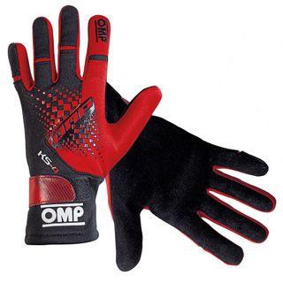 Omp Ks-4 Karting Glove Rd/blk 6xs