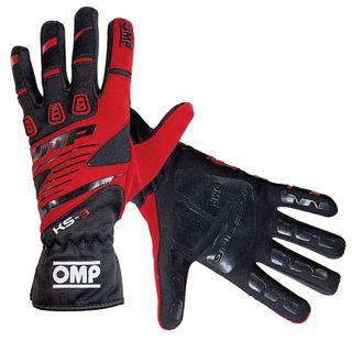 Omp Ks-3 Karting Glove Blk/rd S