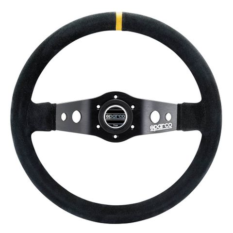 Sparco R215 Suede 250mm Racing Steering Wheel