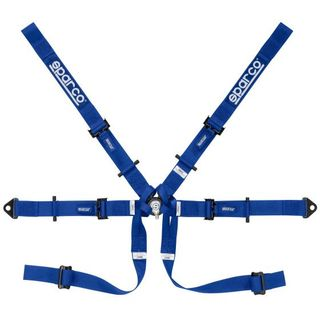 Single Seater 6 Point Harness Blue