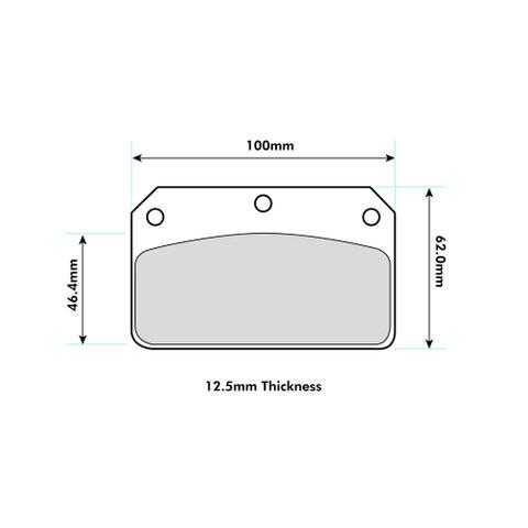 Ferodo Brake Pads - FRP502 Wilwood Dynalite Centre Pin Calipers