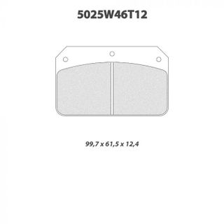 Cl 5025w46t12 Rc6 Brake Pads