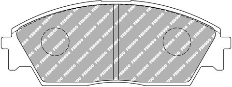 Ferodo DS Performance Brake Pads - Honda Civic Front