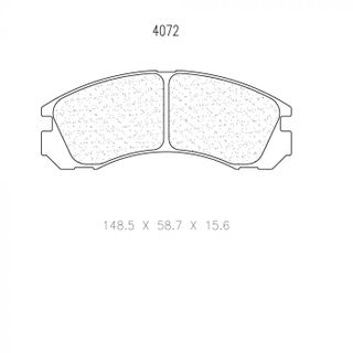 Cl 4072 Rc6 Brake Pads