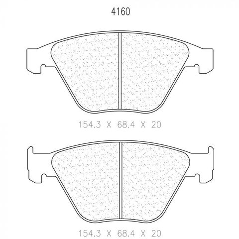 CL Brakes  - BMW E82/E90 M3 Front Brake Pads