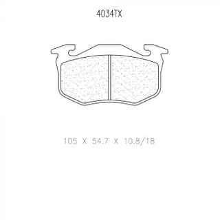 Cl 4034 T11 Rc6 Brake Pads