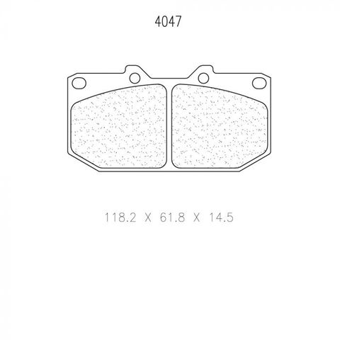 CL Brakes - Subaru Impreza WRX Turbo Front (4 Pot Gravel) Front Brake Pads