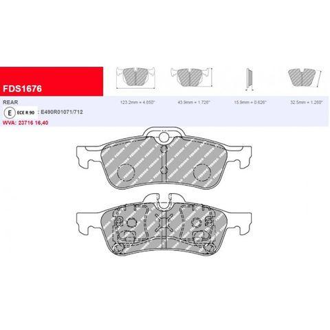 Ferodo DS Performance Brake Pads - Mini Rear