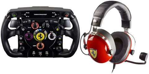 Thrustmaster SCUDERIA FERRARI Race Kit - F1 Wheel and T Racing FERRARI Headset Bundle
