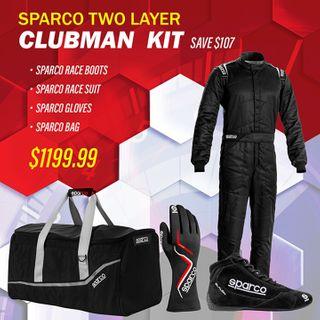 Sparco Two Layer Clubman Racewear Kit