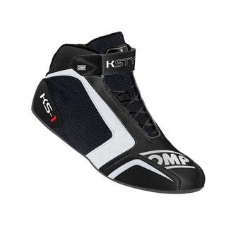 Omp Ks-1 Karting Boots Blk/white/grey 45