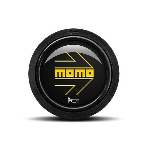 Momo Black Yellow Logo Horn Button