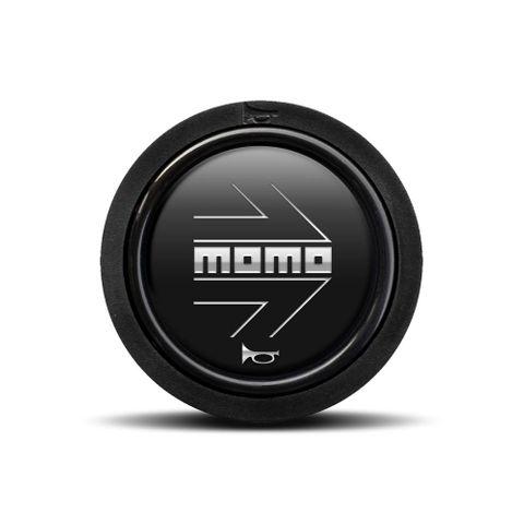 Momo Black Chromed Logo Horn Button