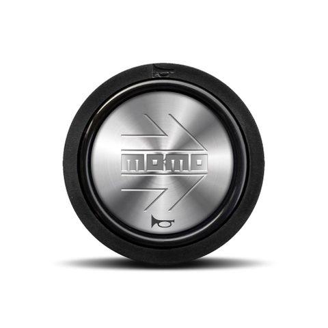 Momo Silver Logo Horn Button