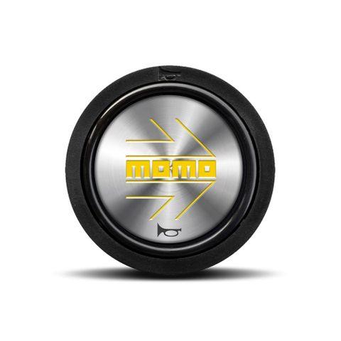 Momo Shiny Silver Horn Button