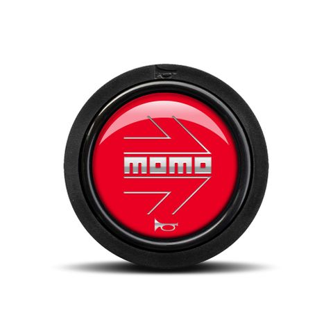 Momo Glossy Red Horn Button