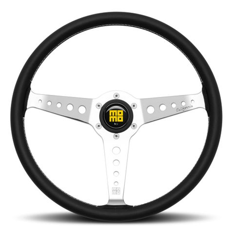 MOMO California Black Leather Steering Wheel 360mm
