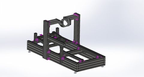Allports Gaming 40160 HD Pro Extrusion Chassis Black - Front Mount Billet Intergrated - Simucube/Mige