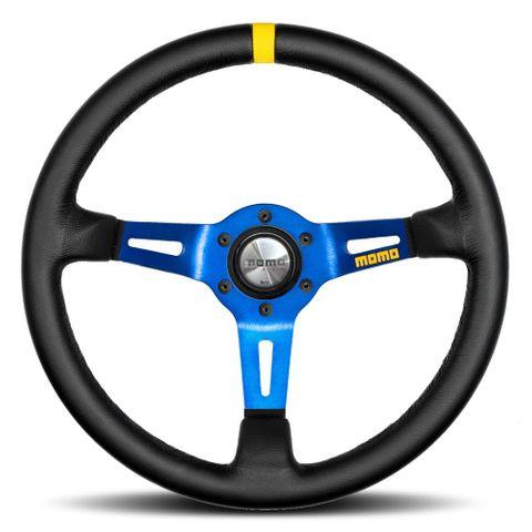 Momo Mod.08 Leather 350mm Blue Steering Wheel