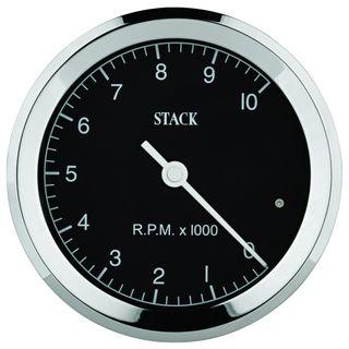 Tachometer, Classic, 80mm, Black, 0-10k
