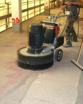 Schwamborn grinders give highest production for warehouse concrete floor