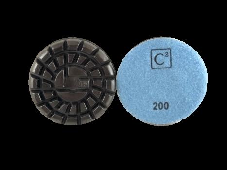 C2 Power Polish Diamonds 200 Grit Resin Pad Blue
