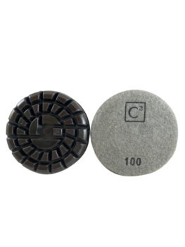 C2 Power Polish Diamonds 100 Grit Resin Pad Grey