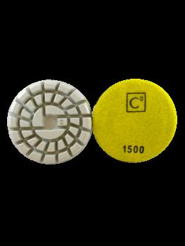 C2 Power Polish Diamonds 1500 Grit Resin Pad Yellow