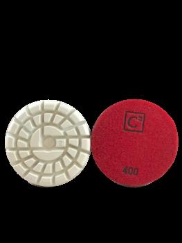 C2 Power Polish Diamonds 400 Grit Resin Pad Red