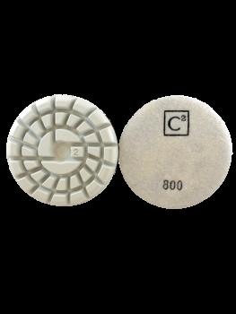 C2 Power Polish Diamonds 800 Grit Resin Pad White