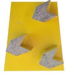 Arrow Diamond Grinding Wedge Block, 3 segment, 30/40 grit, Medium Bond