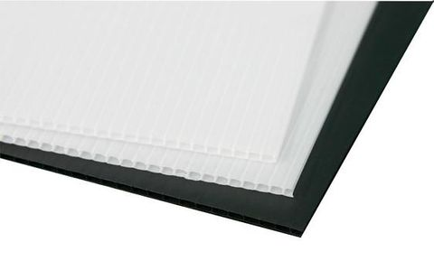 Corflute Protective Sheeting - White 1.8m x 1.2m x 2.5mm thick