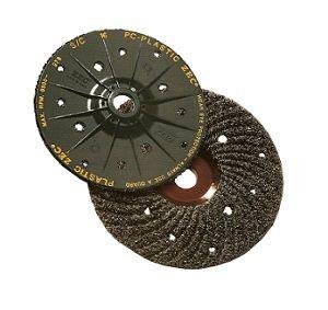 125 x 22.23mm Plastic backed Zec Discs Grade PC16 grit