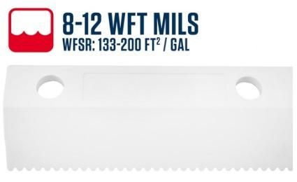 """26""""/ 650mm 4.8mm (8-12WFT Mils Blade) Scallop Easy Squeegee"""