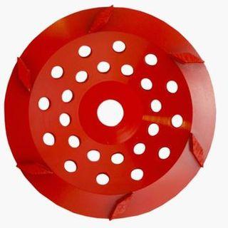 Rhomboid 175mm (7'') Diamond grinding wheel, 30/40 Grit, Medium bond, 6 segment, Red