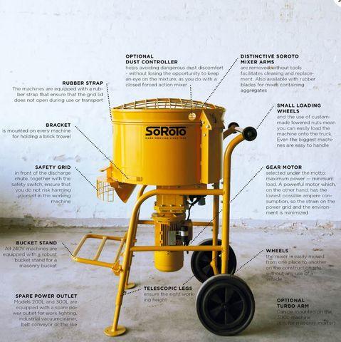 SOROTO Forced action mixer 80L