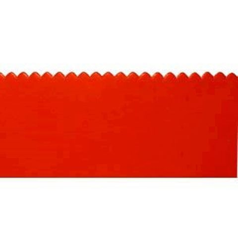 1 metre x Red EPDM 6mm (1/4'') Notched Rubber Squeegee Blade