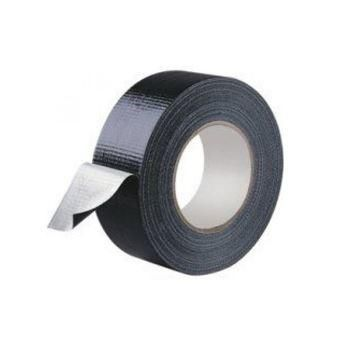 48mm x 25m BLACK Polythene Coated Cloth Tape