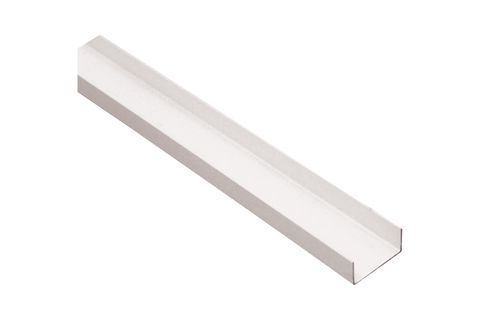 FastWall Bottom Track / Wall Starter for 30mm panel 3.0m x 25mm Deep - Off White Aluminium Section