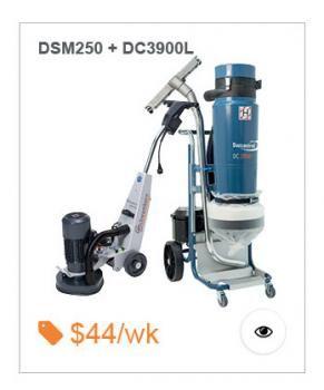 Dustless Starter Package, Includes Schwamborn DSM250 Grinder and Dustcontrol DC3900L Twin Motor Vacuum