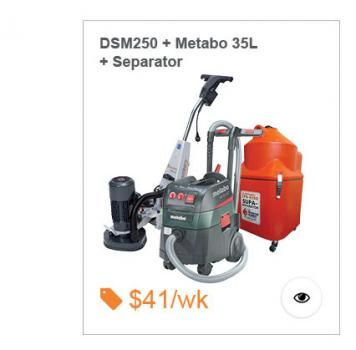 Entry level grinding package, Includes Schwamborn DSM250 Grinder, Metabo 35L Vac and 65L Supa Dust Separator