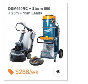 Work it remote DSM650Rc and Dustcontrol STORM 500 Package