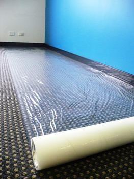 Carpet Film Self Adhesive Roll 0.3m x 100m, 100um Thickness