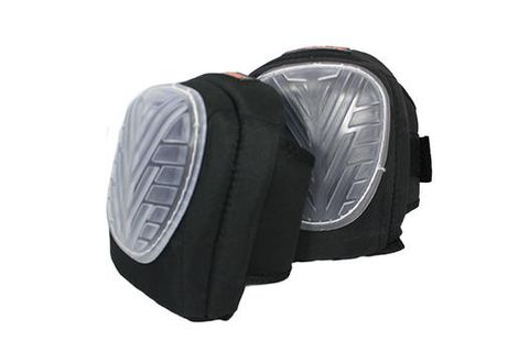 Soft Gel Knee Pads - (anti-compression air injected, square tread, hook and loop tabs, one size fits all)