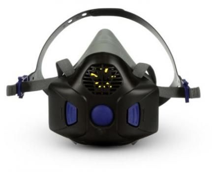 3M HF-800SD Half Face Mask / Reusable Respirator with Secure Click Particulate Filters - Medium
