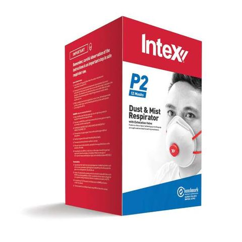 Dust & Mist Mask P2 with front filter (pack of 12)