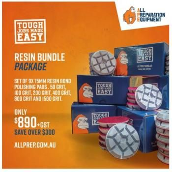 Resin Bundle Promo Package - Set from 50 to 1500 Grit