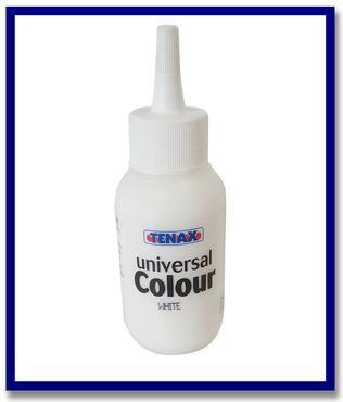 Tenax Universal Colour For Epoxy and Polyester glues 75ml White