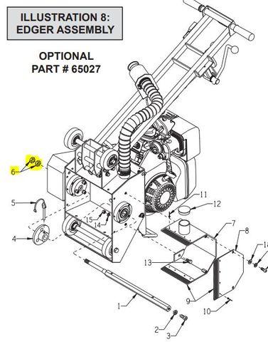 EDCO Drum Shaft Nuts - CPM-8