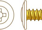 Fastwall White Button Head Self Drilling Screws 8 gauge x 25mm, 100 per pack